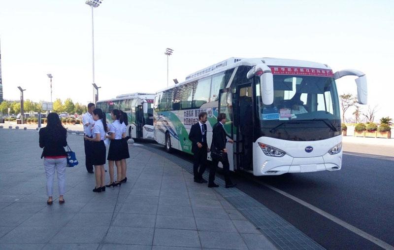 Elektrobusy BYD Coach. (foto: BYD)