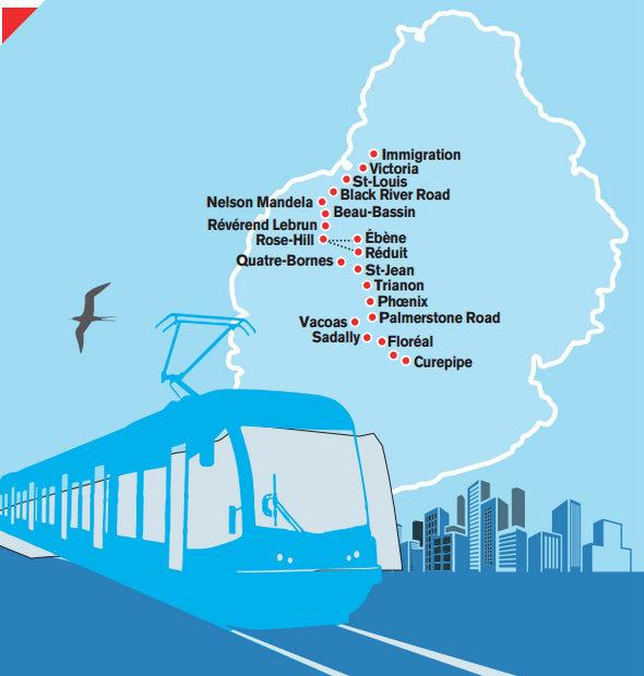 Trasa tramvaje na ostrově Mauricius. (zdroj: Alcons)