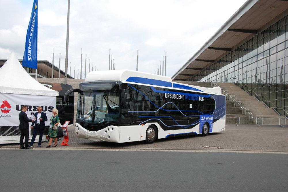 Ursus se představil také na loňském veletrhu IAA v Hannoveru, kde se ukázal se svým vodíkovým autobusem. (foto: Libor Hinčica)
