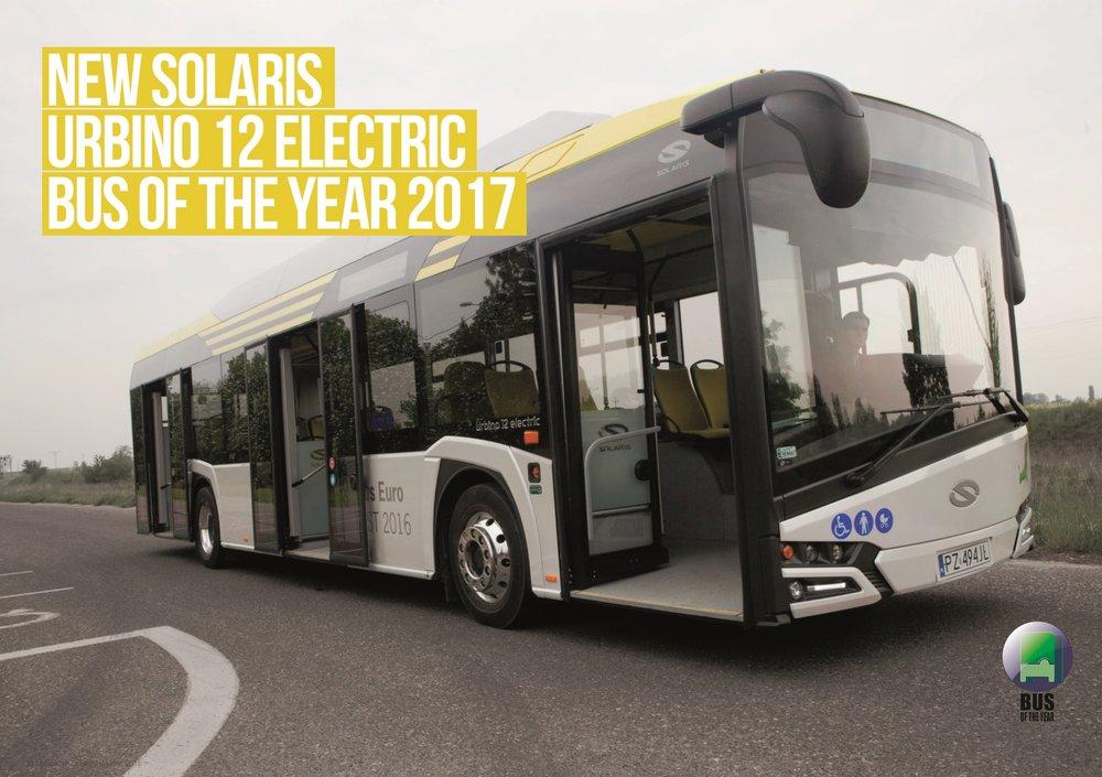 Solaris New Urbino 12 electric je zároveň držitelem titulu Bus of the Year 2017. (foto: Solaris Bus & Coach)