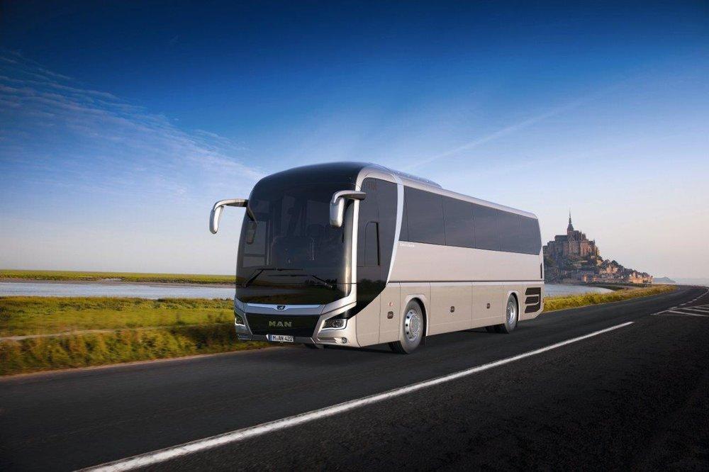 MAN Lion's Coach s upravenými křivkami na vizualizaci výrobce. (foto: MAN Truck & Bus)