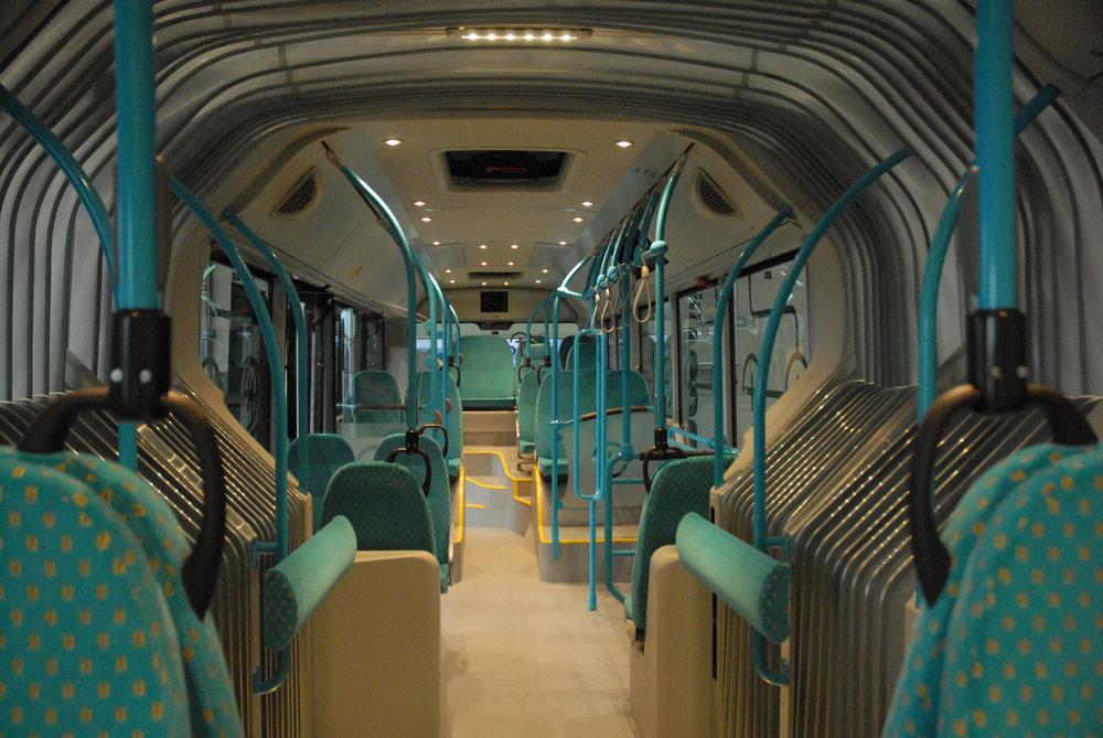 Interiér autobusu MAN Lion's City GL A40 CNG pro Kodaň. (foto: MAN Truck & Bus)