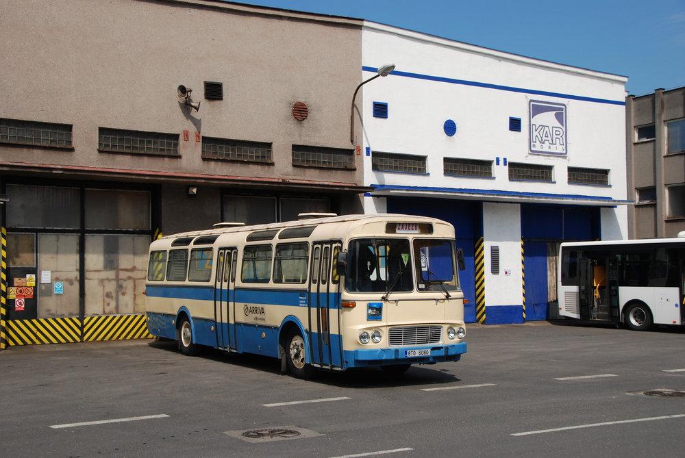 Z Třince do Českého Těšína se účastníci akce svezli historickým autobusem Karosa ŠL 11 z roku 1976. (foto: Libor Hinčica)