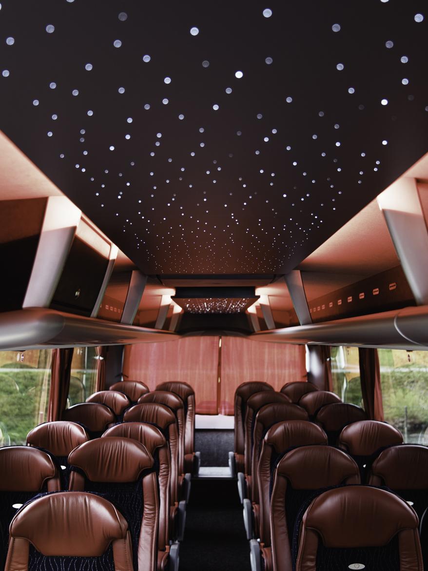 """Pohled na """"hvězdnou oblohu"""". (floto: MAN Truck & Bus)"""