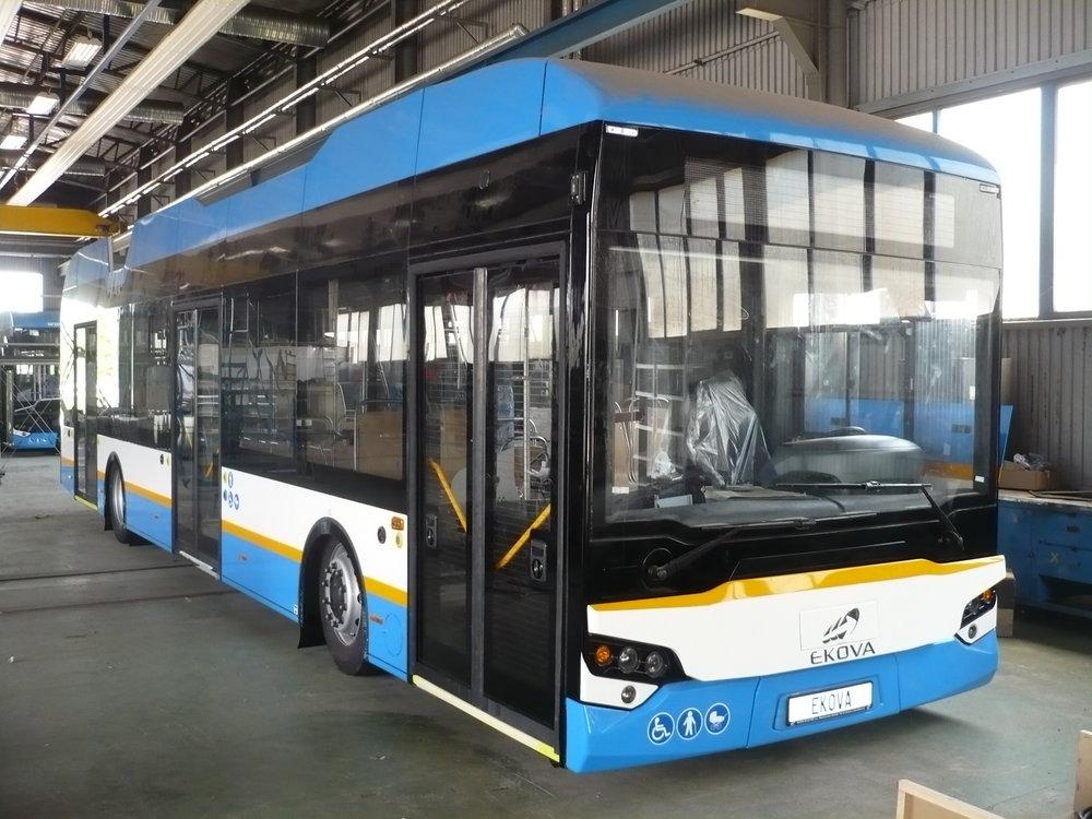 Ekova Electron 12T - nový trolejbus, jenž má být představen na veletrhu Czech Raildays. (foto: Ekova Electric)