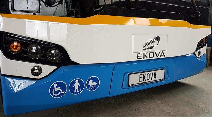 Doposud jediná fotografie uvolněná Ekovou Electric v souvislosti s novým trolejbusem představovala pouze jeho čelo, resp. jeho část.(foto: Ekova Electric)