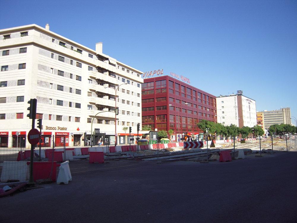 Výstavba prodloužení Metrocentra na snímcích z roku 2010