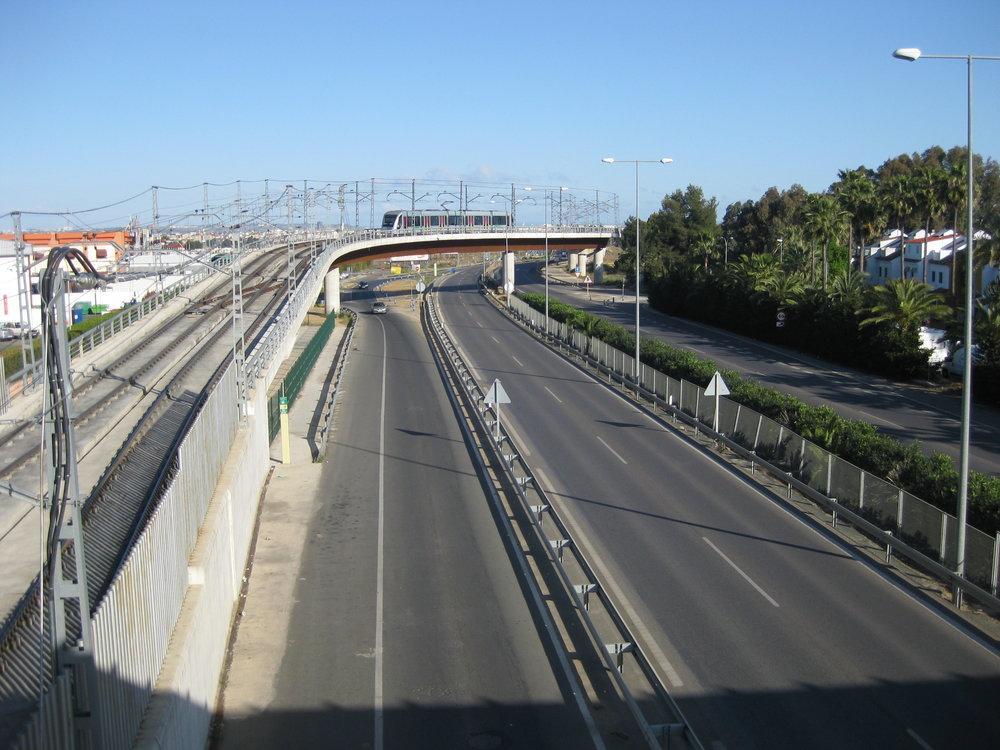 Jedna ze čtyř tramvají Urbos 2 roku 2014, již ne tramvajové trati, ale na trati místního metra. (foto: Miguel Cano López-Luzzatti)