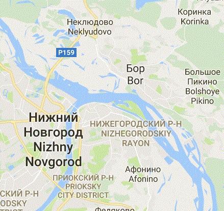 Popsat správně polohu pátého největšího města není snadné, proto pro jistotu nabízíme malý výřez z mapy. (zdroj: Google Maps)