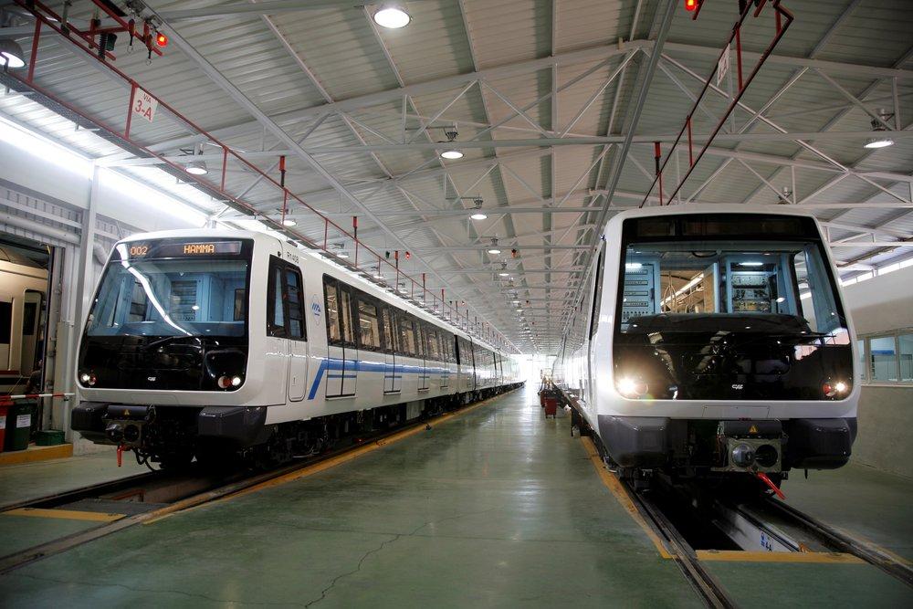 Jednotky metra CAF v Alžíru. Výrobce zde v minulosti dodal 14 souprav, nyní by se mělo přidat dalších 12.(foto: CAF)
