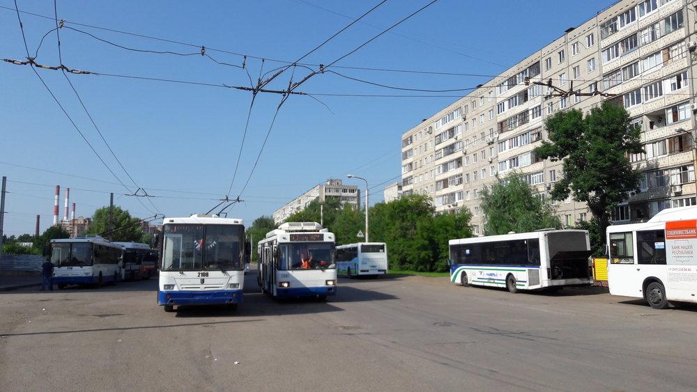 Konečná trolejbusů Ufimskij DOK.