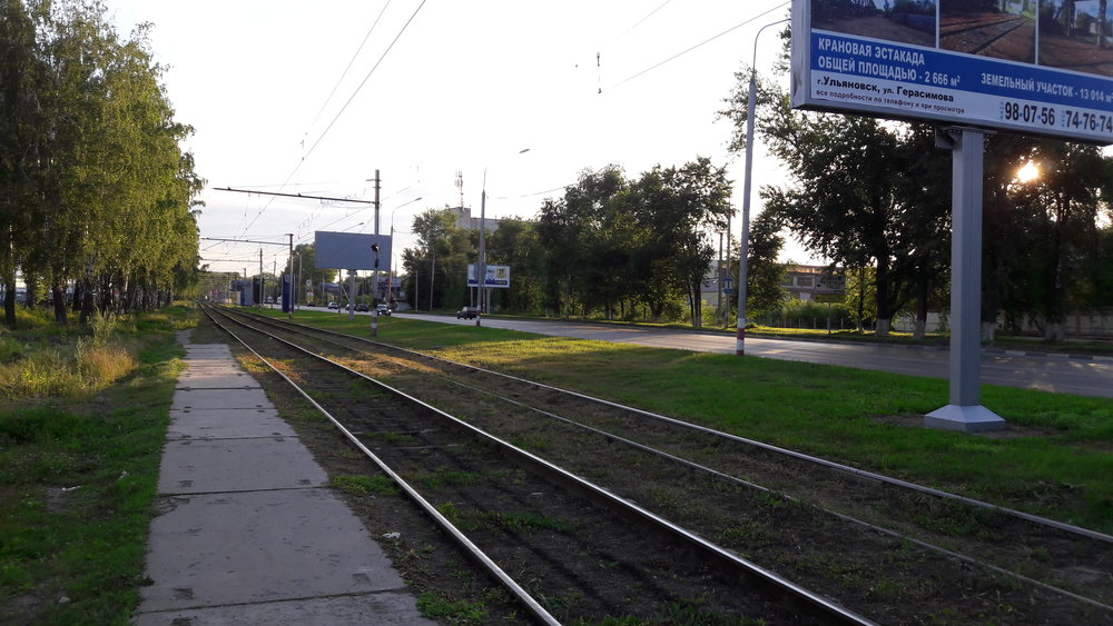 Pohled na trať směrem na Veščevoj Rynok