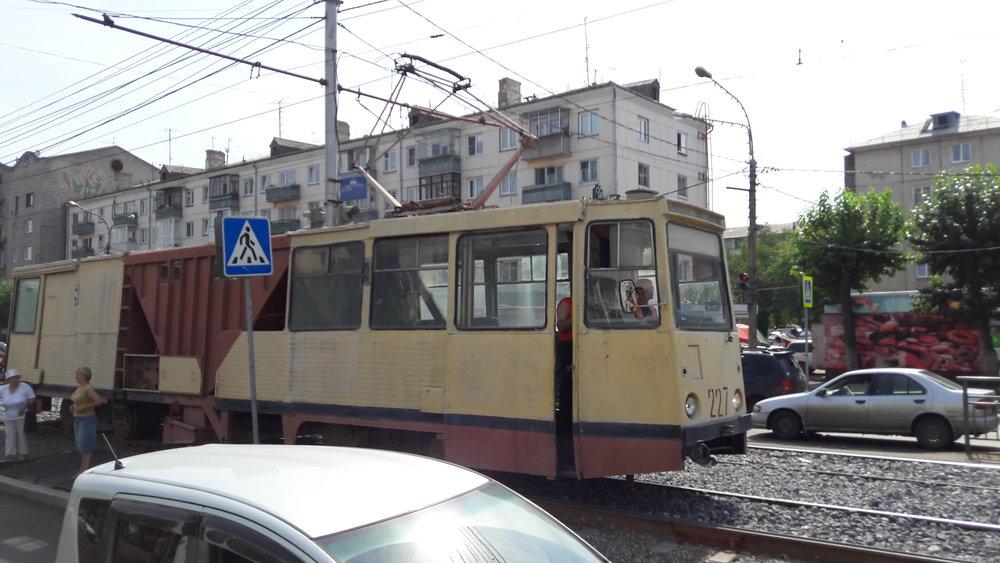 Rekonstrukce dalšího úseku na prospektu imeni gazety Krasnojarskij rabočij v srpnu 2017.