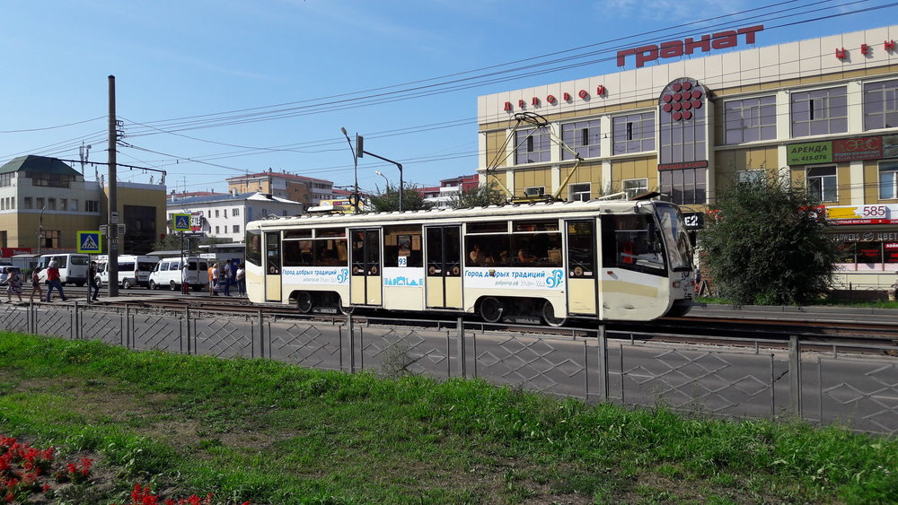 Snímky z ulice Těreškovoj.