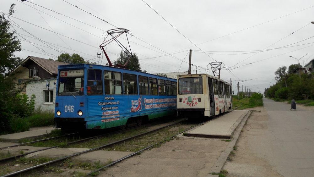Konečná Zagorodnaja (Trampark)před vozovnou a samotná vozovna na několika snímcích.