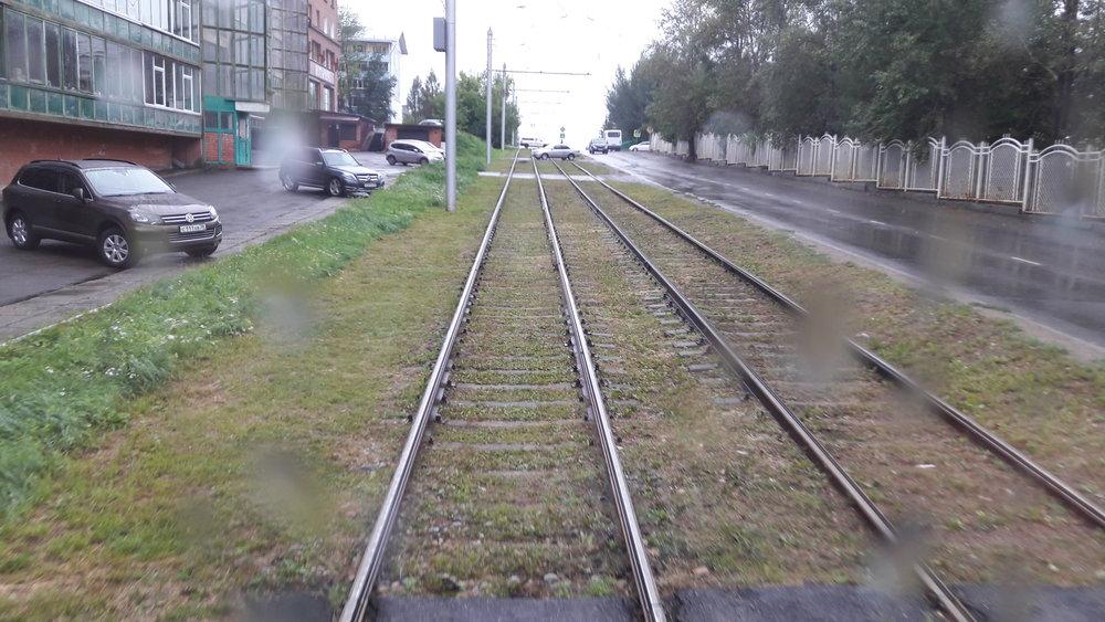 Trať před konečnou mikrorajon Solněčnyj.