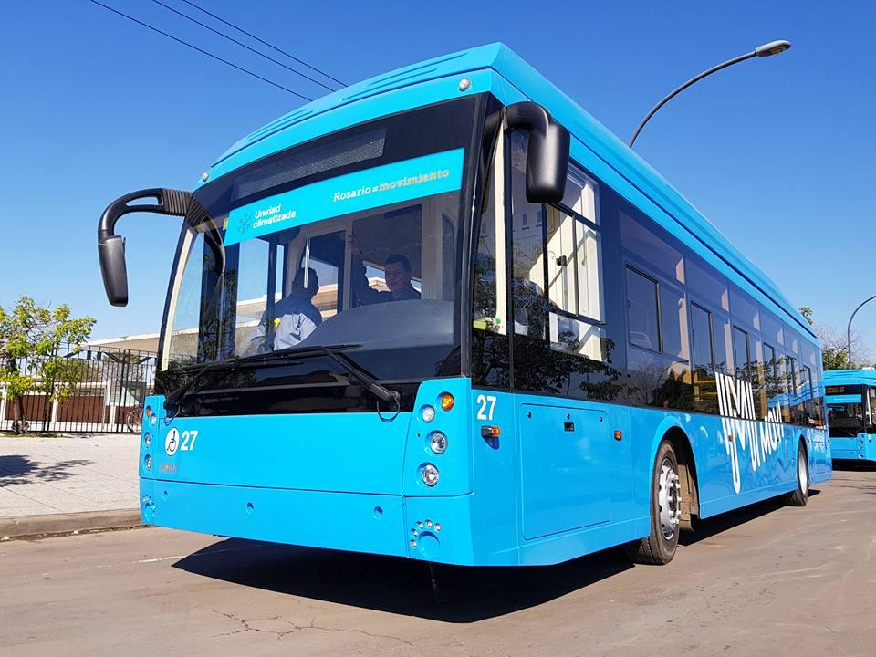 "Jeden z 12 trolejbusů Trolza-5265 ""Megapolis"" (foto: Trolebuses Rosarinos)"