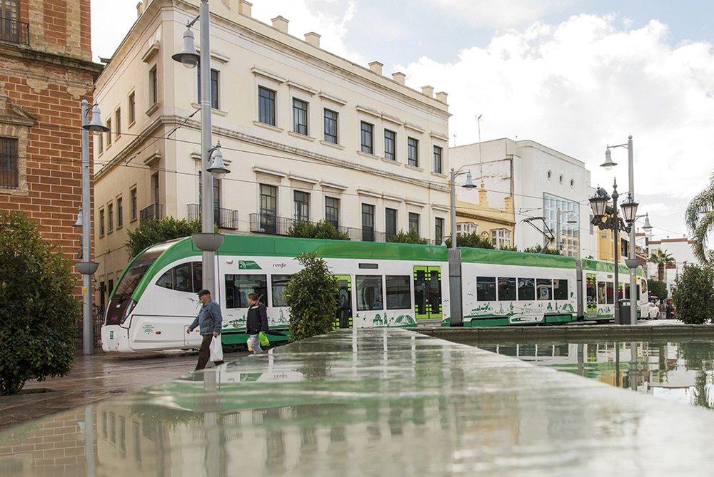 Z tramvajového úseku. (foto: Agencia de Obra Pública de la Junta de Andalucía)