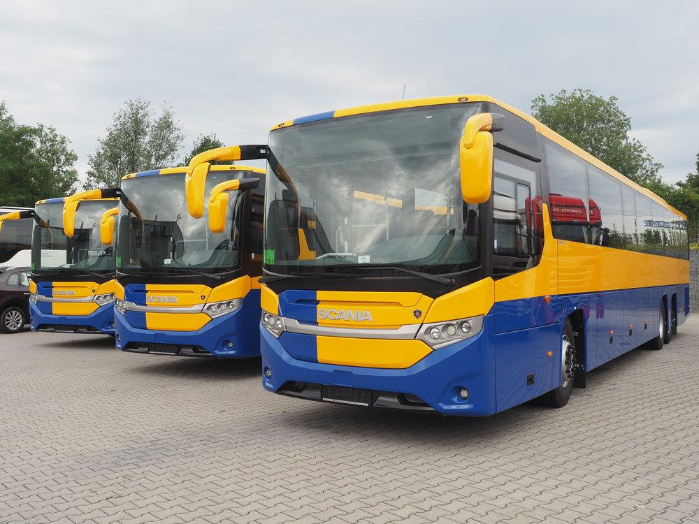 Autobusy Scania Interlink MD pro BORS Břeclav. (foto: Scania)