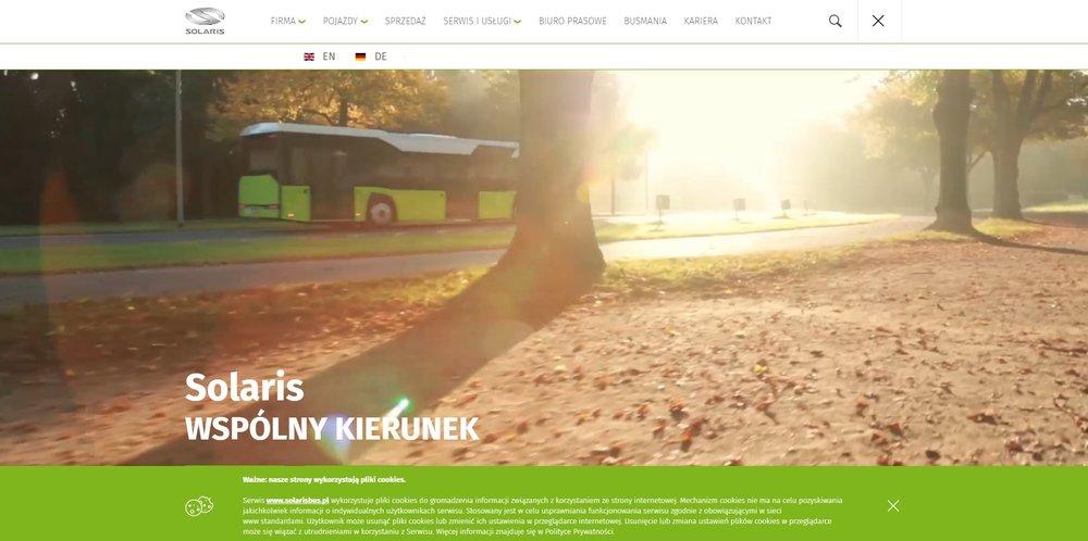 Nové webové stránky společnosti Solaris Bus & Coach.