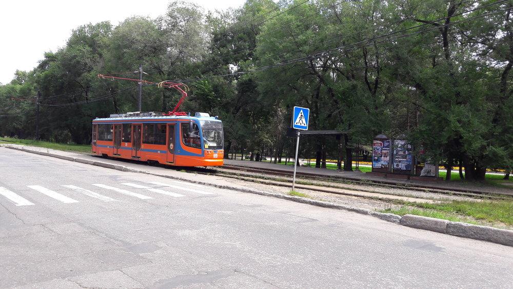 Tramvaj typu 71-623-02 ev. č. 119 vyrobená roku 2011.