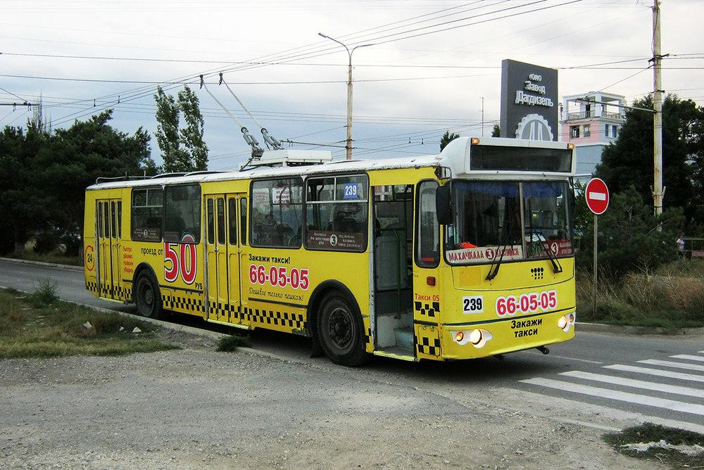 Ještě jednou trolejbus v Kaspijsku, a to dne 7. 9. 2017. (foto: Alim Kazimagomedov)