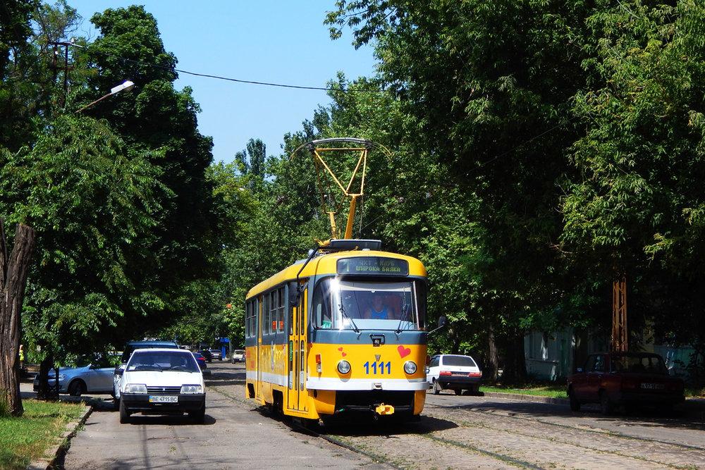 Ex-plzeňský vůz ve městě Mykolajiv na snímku z roku 2016. (foto: Petr Bystroň)
