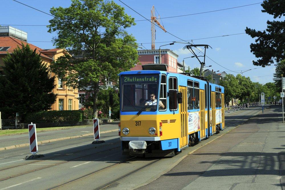 """""""Nepravé"""" obousměrné vozy KT4D vznikly i Německu, konkrétně v Erfurtu a Gothě, odkud pochází i tato fotografie. (zdroj: Wikipedia.org)"""