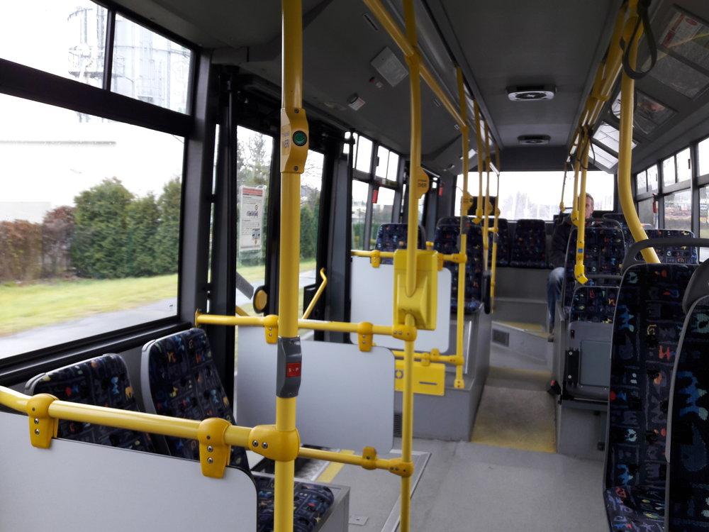Interiér trolejbusu Škoda 30 Tr SOR.