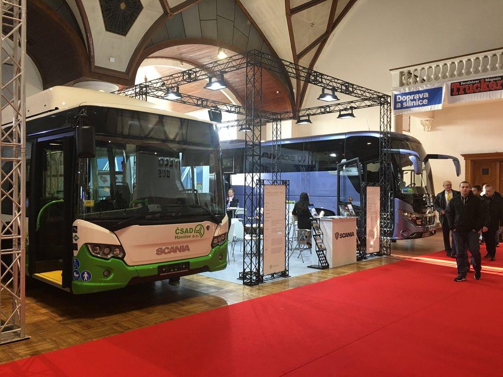 Expozice Scanie na veletrhu Czechbus 2017. (foto: Scania Czech Republic)