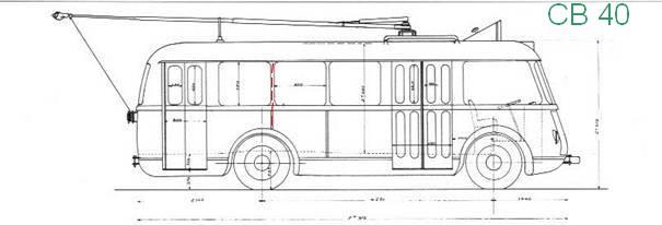 Původní výkres vozu typu CB 40. (zdroj: sbírka Rolanda le Corffa)