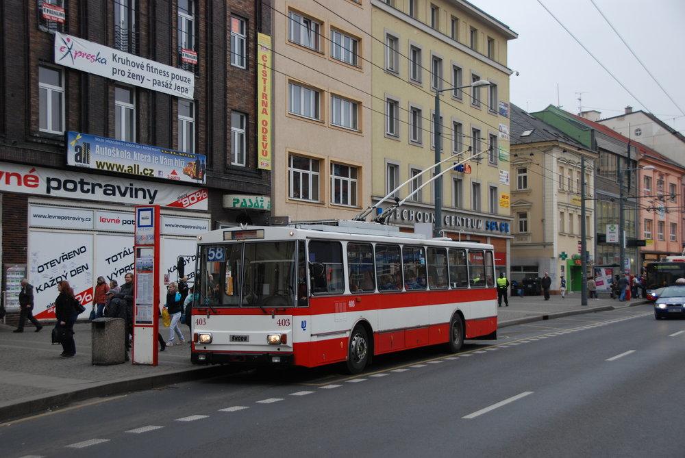 Trolejbus Škoda 14 Tr ev. č. 403 sloužil v Ústí nad Labem téměř 30 let. (foto: Libor Hinčica)