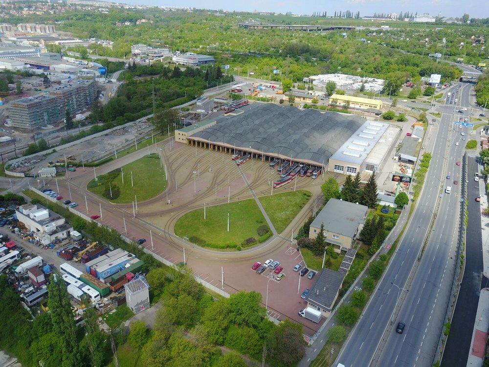 Současný stav vozovny Hloubětín. (foto: DPP)