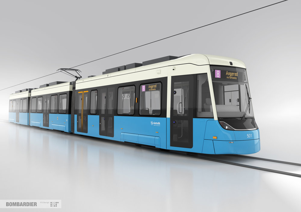Upravený design tramvaje M33 pro Göteborg. (foto: Bombardier)