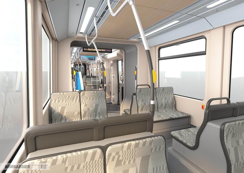 Nově řešený interiér vozidel M33.(foto: Bombardier)