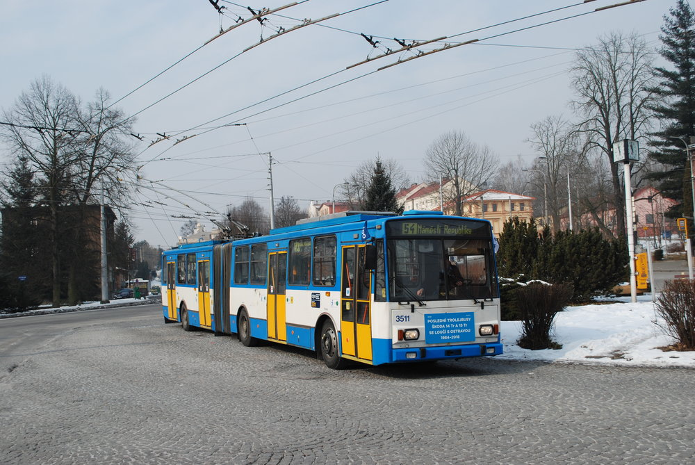 Trolejbus s cedulí. Tím marketing kolem celé akce začal a skončil. (foto: Libor Hinčica)