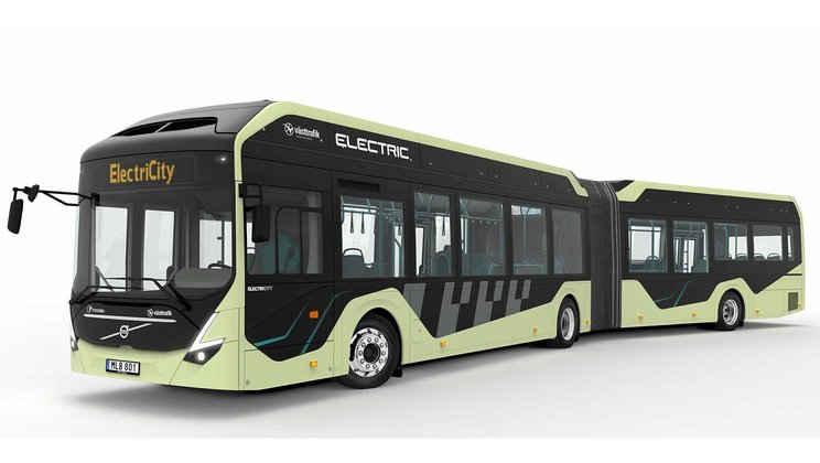 Volvo 7900 jako kloubový elektrobus. (zdroj: Volvo Buses)