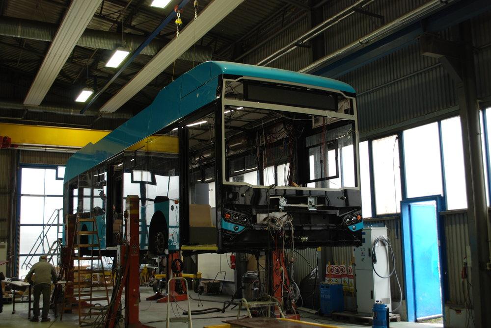 Druhý z rozpracovaných elektrobusů pro Ostravu. (foto: Libor Hinčica)