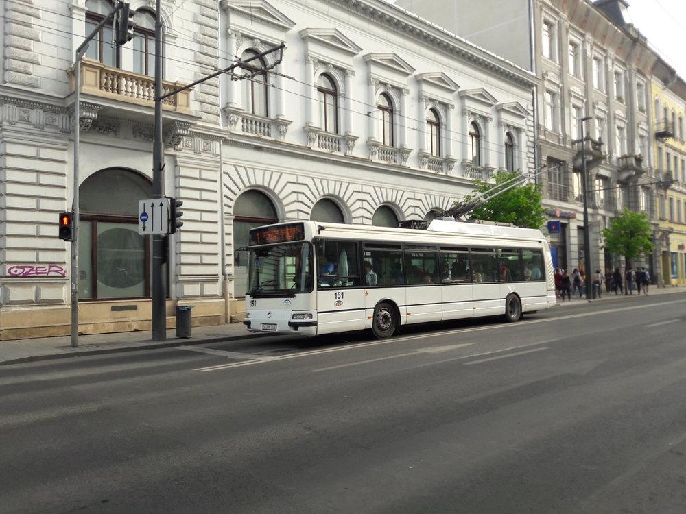 Trolejbus typu Astra Citelis PS01T1 ev. č. 151.