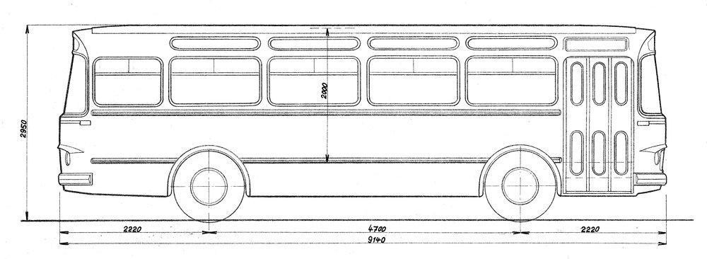 Autobus v provedení ŠL/ŠD 9, resp. podle výkresu L/D 9. (zdroj: archiv Iveco Czech Republic)