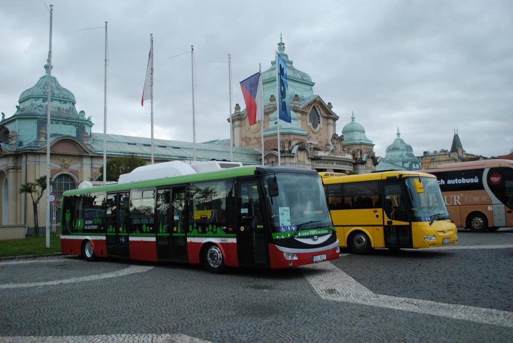 Elektrobus SOR EBN 11 dříve testovaný u DP v Praze na veletrhu CZECHBUS 2017. (foto: Libor Hinčica)