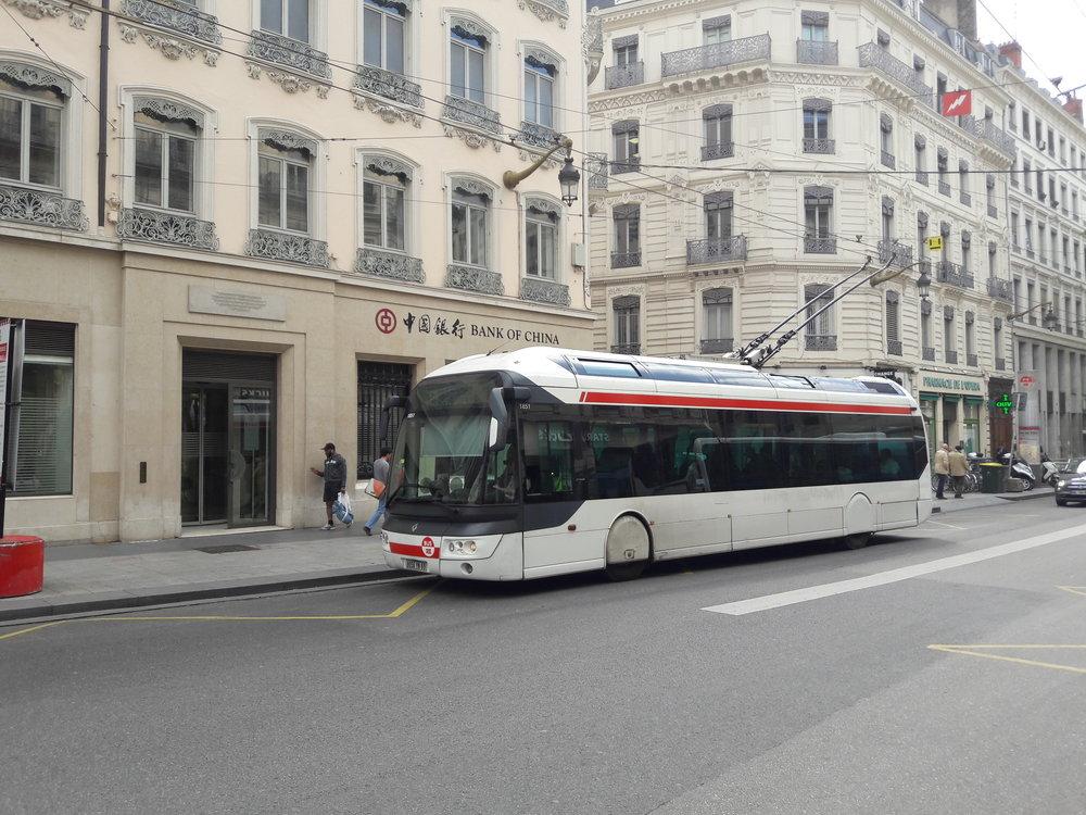 Snímek z centra Lyonu.