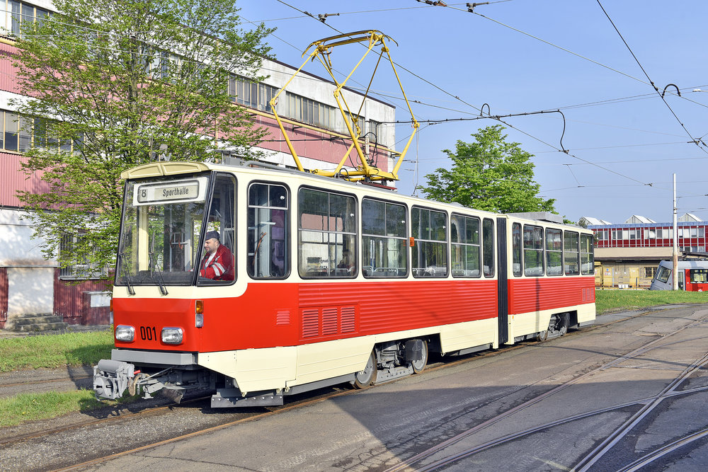 Repasovaný prototyp vozů KT4D v Praze. (foto: DPP