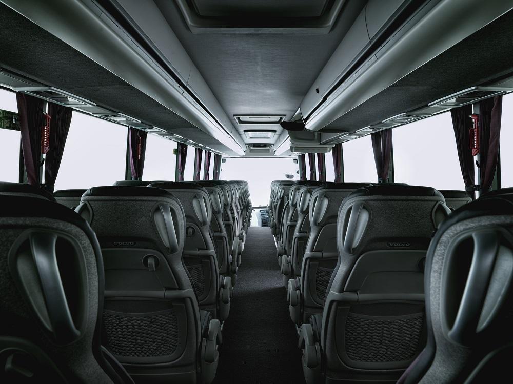 Interiér autobusu Volvo 9900. (foto: Volvo Buses)