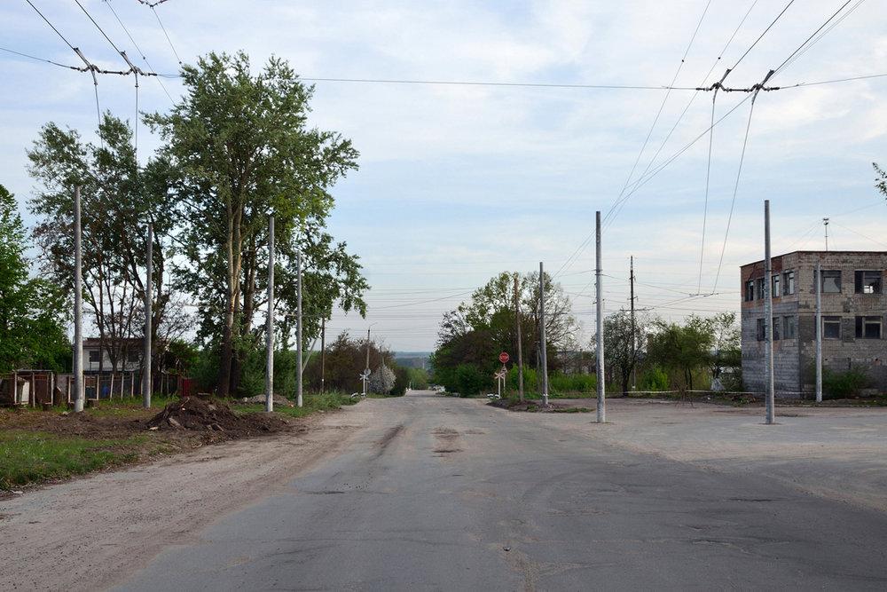 Stavba smyčky na snímku z konce dubna 2018. (foto: T. Korotun)