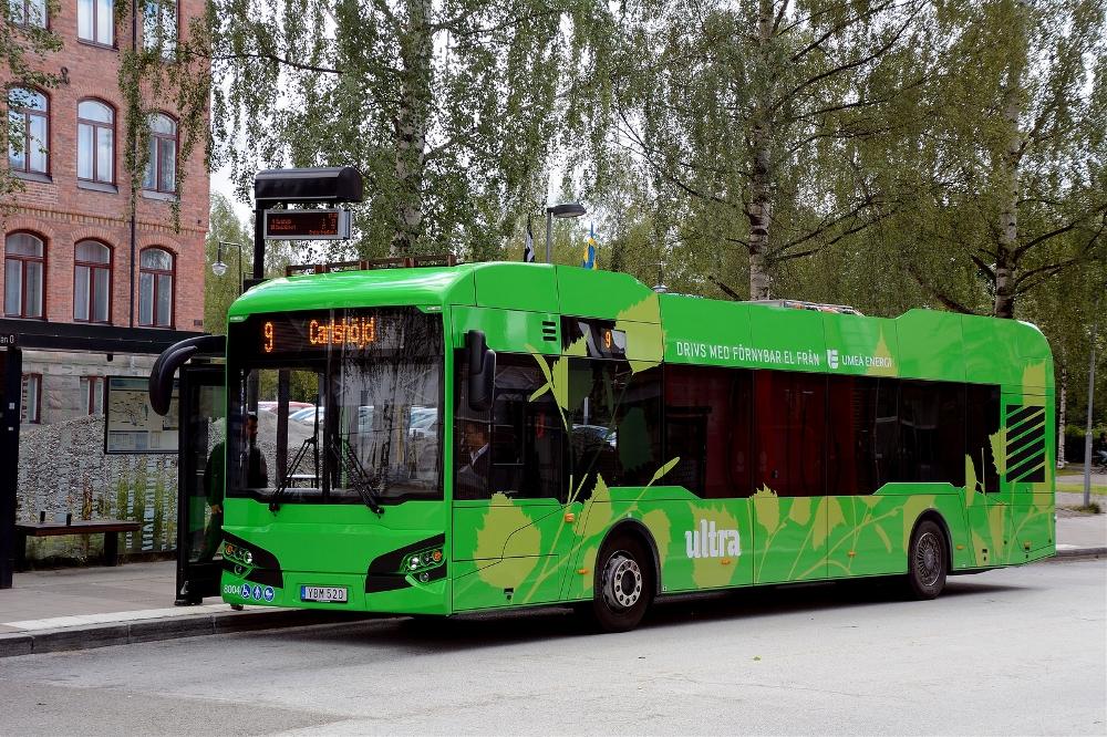 Elektrobus Ekova Electron ve 12m verzi je na švédském trhu při vybavení elektrickým zařízením od Hybriconu označován jako model HAW 12 LF (případně LE). (foto: Hybricon)