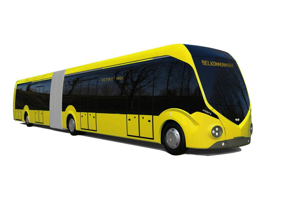 Nové elektrobusy pro Minsk by měly vypadat podle vizualizace výrobce takto. (foto: Belkommunmaš)