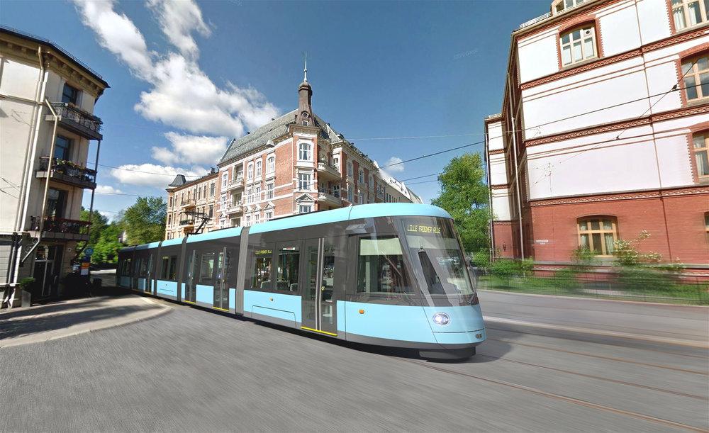 Vizualizace nových tramvají pro Oslo. (foto: CAF)