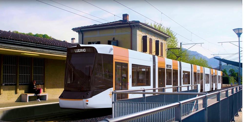 Stadler Variobahn ve verzi pro Lugano. (zdroj: Stadler)