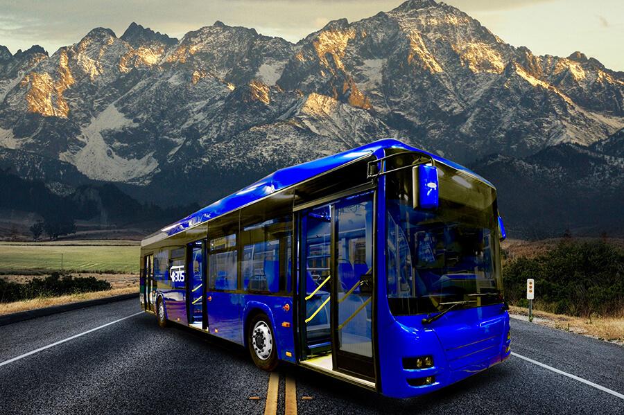 Elektrobus Troliga Bus Leonis Electric na propagačním snímku výrobce. (foto: Troliga Bus)